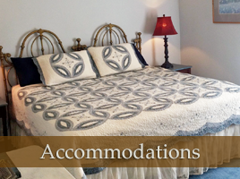 Accommodations at City Lights Inn Bed and Breakfast