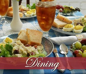 Dining at The Columns of Tunica Bed and Breakfast
