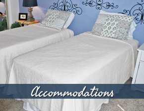 Accommodations at Fortuna Bay Bed and Breakfast in Corpus Christi Texas
