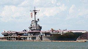 USS Lexington in Corpus Christi TX near fortuna bay bed and breakfast