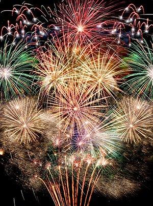 Fireworks in Corpus Christi TX near Fortuna Bay bed and breakfast