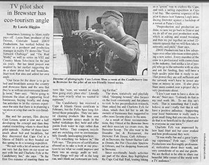 Newspaper clipping about Applebrook Bed and Breakfast