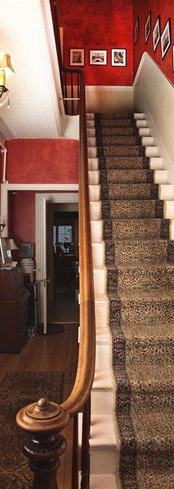 main hallway stairs