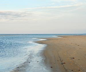 Beach near West End Inn in Portland, Maine