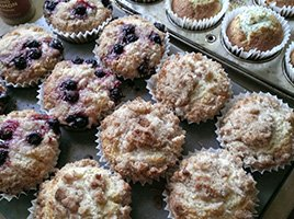 Fresh-Baked Muffins at Applebrook Bed and Breakfast in Jefferson, New Hampshire