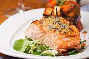 salmon for dinner at applebrook