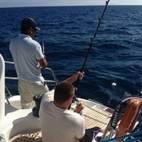deep sea fishing on Blue Moon Charters out of Annapolis, Maryland