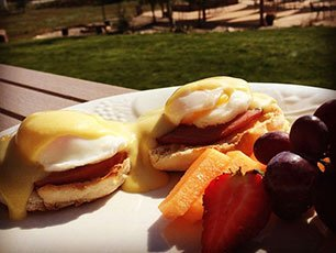 Eggs Benedict at Snowberry Inn in Eden, UT