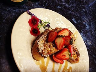 French Toast at Snowberry Inn in Eden, UT