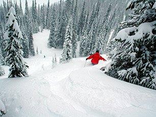 Skiing near Snowberry Inn in Eden, UT