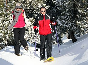 Snowshoing in Estes Park by Colorado Cottages