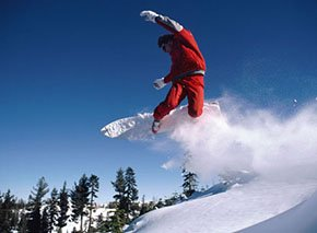 Snowboarding in Estes Park by Colorado Cottages