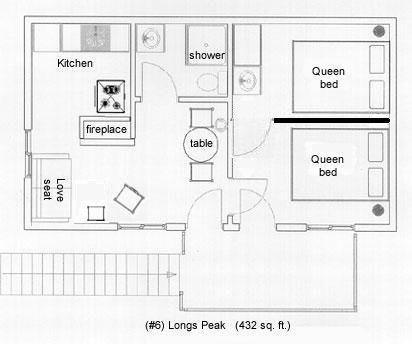 Longs Peak Cottage Layout