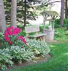 Gardens at J. Paule's Fenn Inn Bed and Breakfast in Southwest Michigan