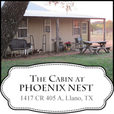The Cabin at Phoenix Nest in Texas Hill Country