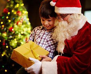 Santa in Llano Texas