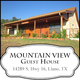 Mountain View Guest House in Texas Hill Country