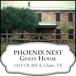 Phoenix Nest Guest House in Texas Hill Country