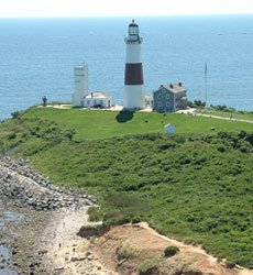 Montauk Point Lighthouse near Cottage East in the Hamptons, NY
