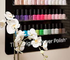 Nail Polish at Inn at Camden Place Green with Envy Spa and Salon