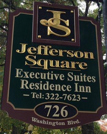 jefferson square apartments sign