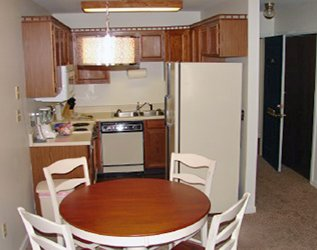 Kitchen in 1 Bedroom at Jefferson Square Apartments in Williamsport, PA