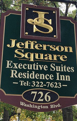 Sign at Jefferson Square Apartments in Williamsport, PA
