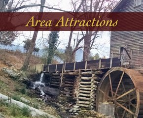 Area Attraction Near Log Cabin in Smoky Mountain