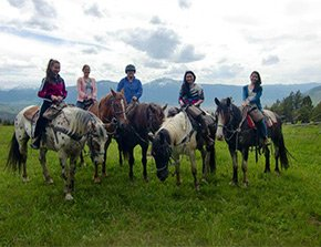 horseback riding near yellowstone basin inn