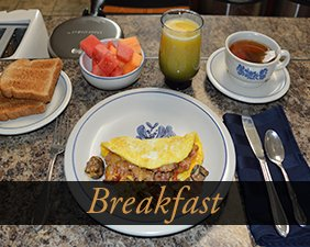 Breakfast at The Bears Den Bed and Breakfast in Page Arizona