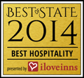 Winner 2014 Best Hospitality from I Love Inns