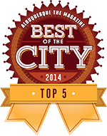 Best of the City 2014 ABQ ribbon
