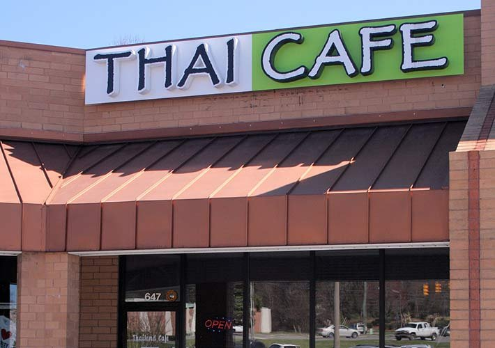 thai cafe restaurant near Heart and Soul bed and breakfast
