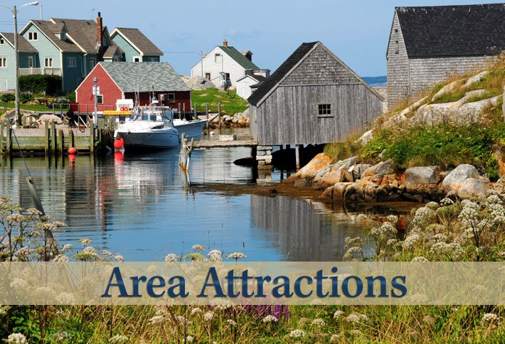 Area Attractions Near Delft Haus B&B in Centreville, Nova Scotia Canada