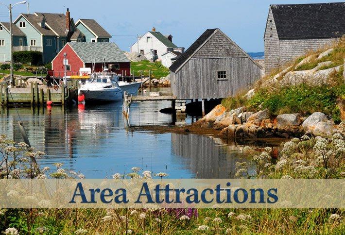 Area Attractions Near Delft Haus B&B in Centreville, Nova Scotia Canada