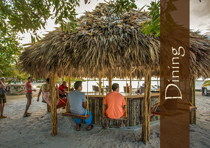 Dining at Crimson Orchid Inn in Belize