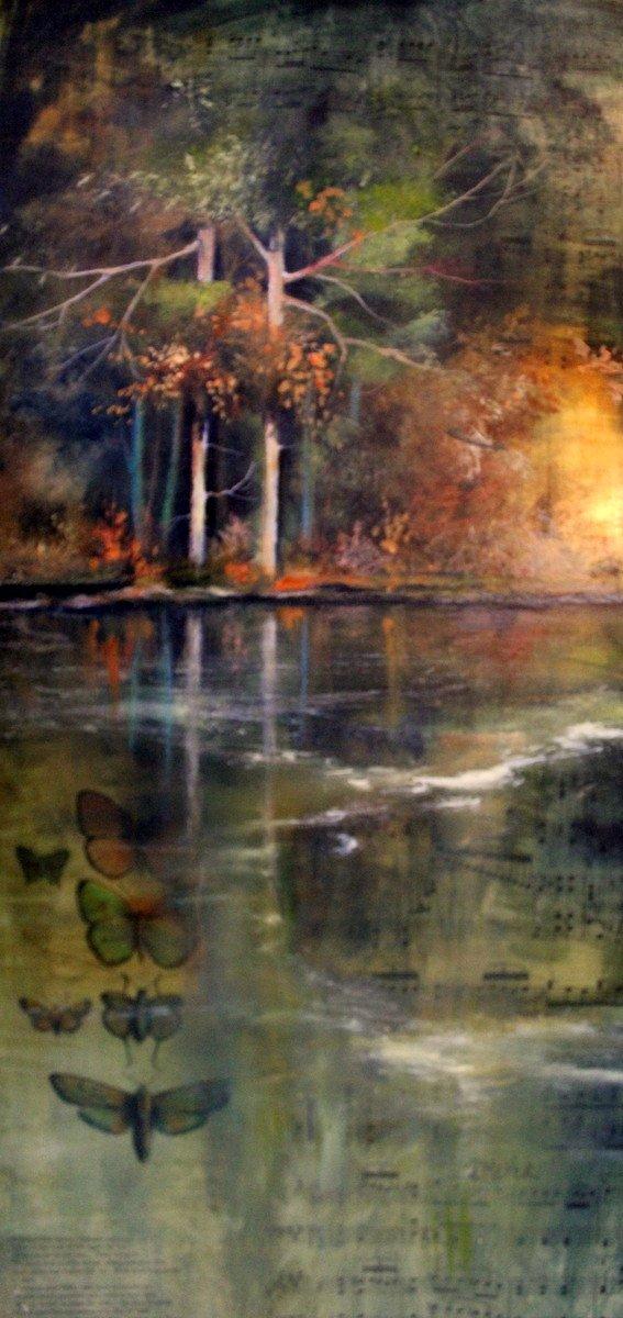 mirror lake painting by Deborah Meyer