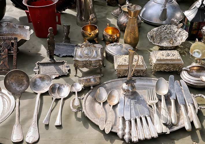 Antique silverware at Albany House B&B