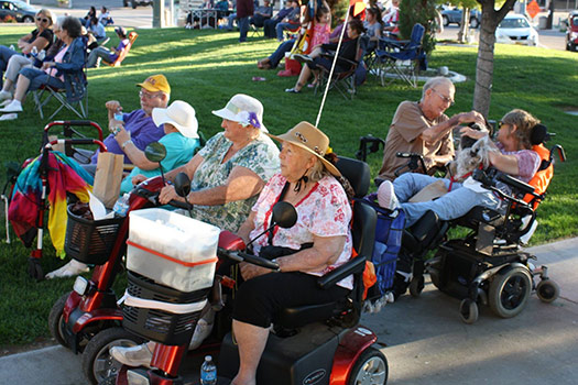 Scooters at Public Awareness Event
