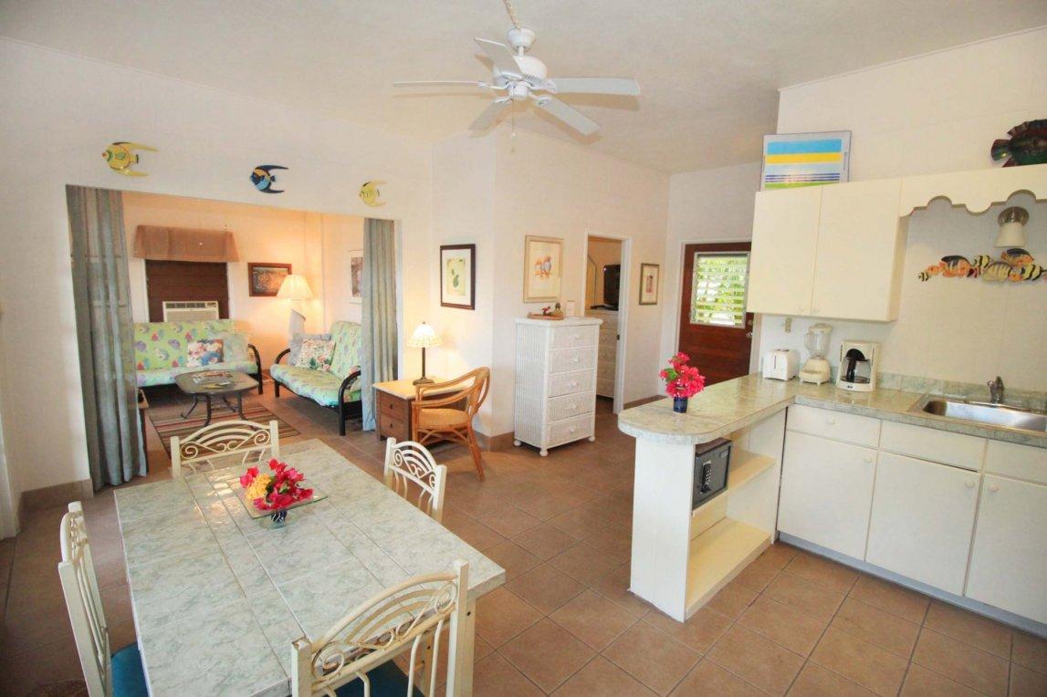 Bravo unit living area at Serendip Vacation Condos