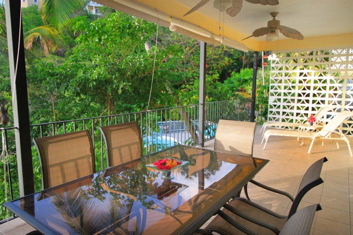 Bravo unit veranda at Serendip Vacation Condos