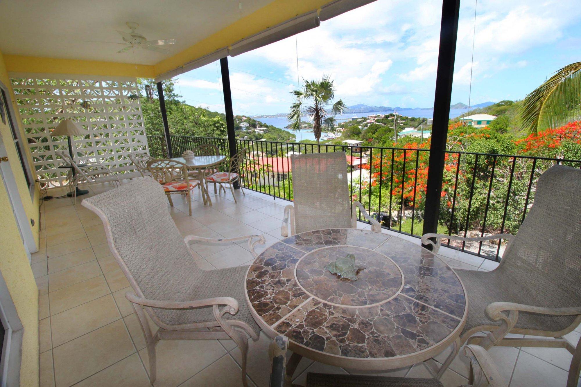 Alpha unit veranda at Serendip Vacation Condos