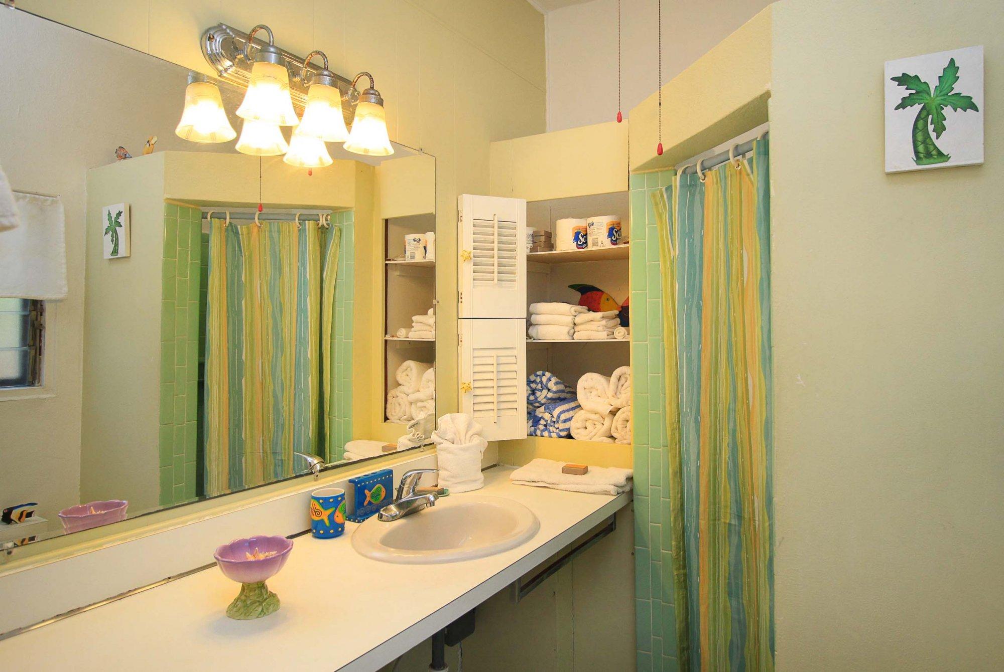 Alpha unit bathroom at Serendip Vacation Condos
