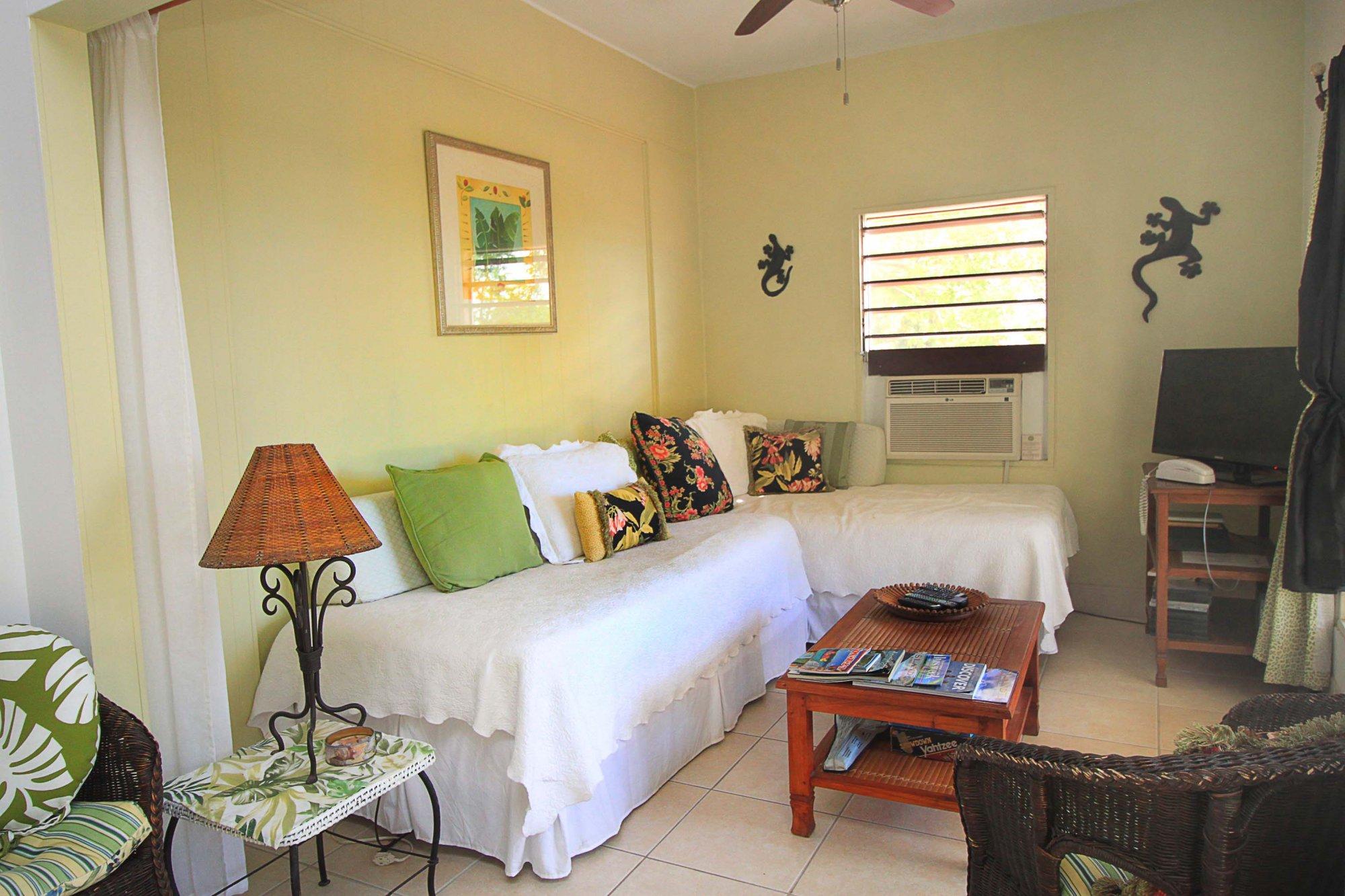 Alpha unit living room at Serendip Vacation Condos