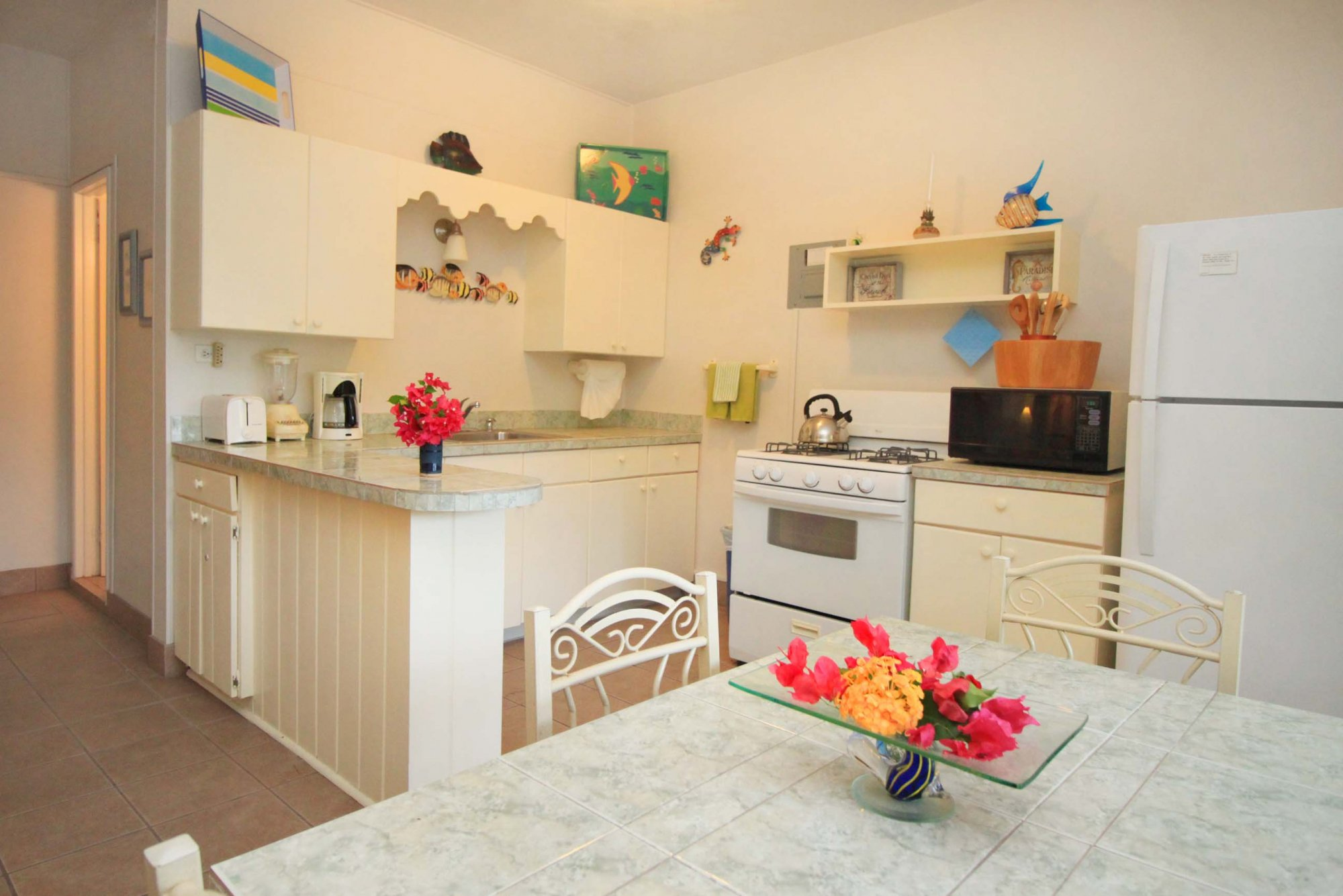 Bravo unit kitchen at Serendip Vacation Condos