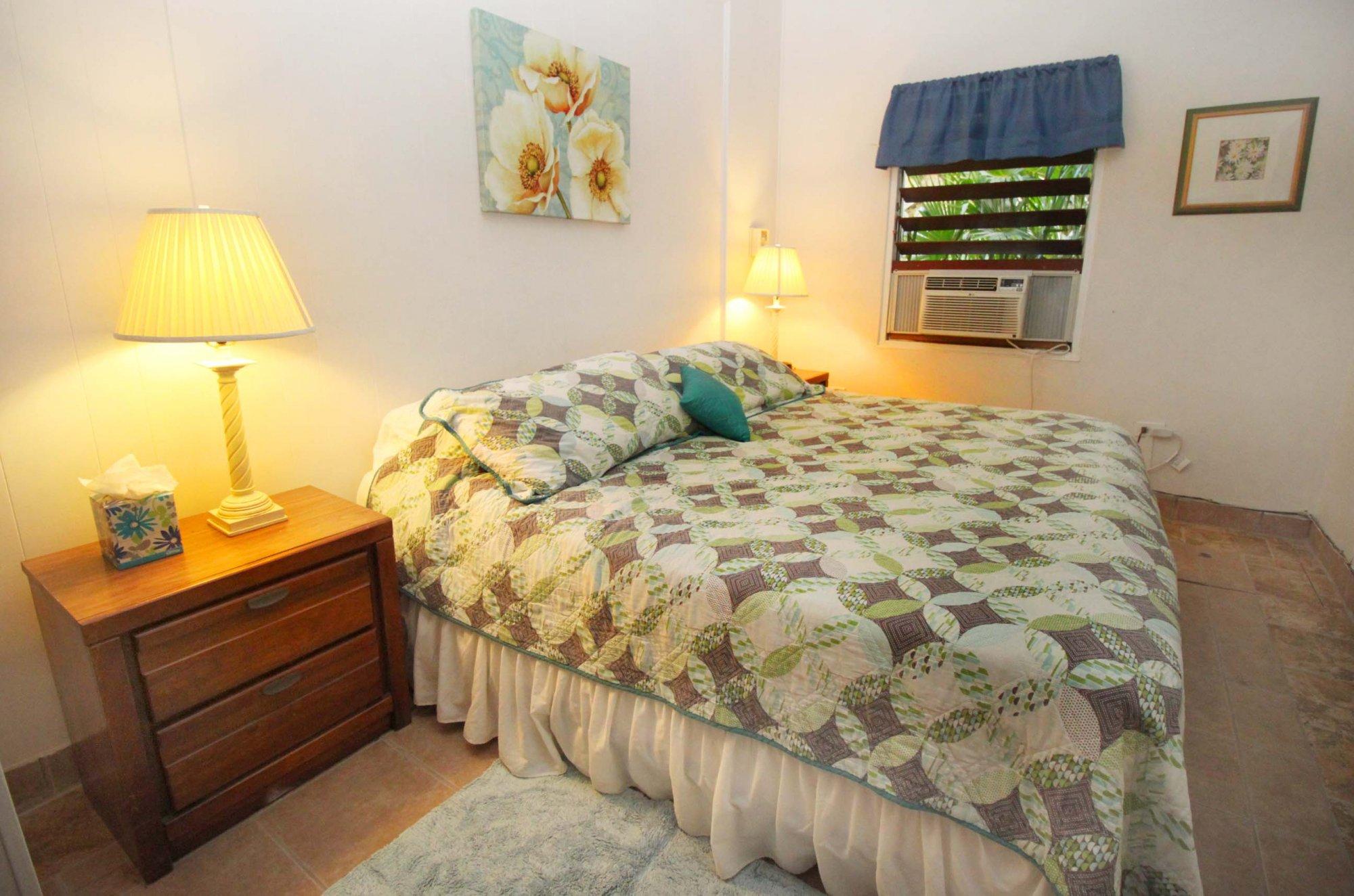 Bravo unit bedroom at Serendip Vacation Condos