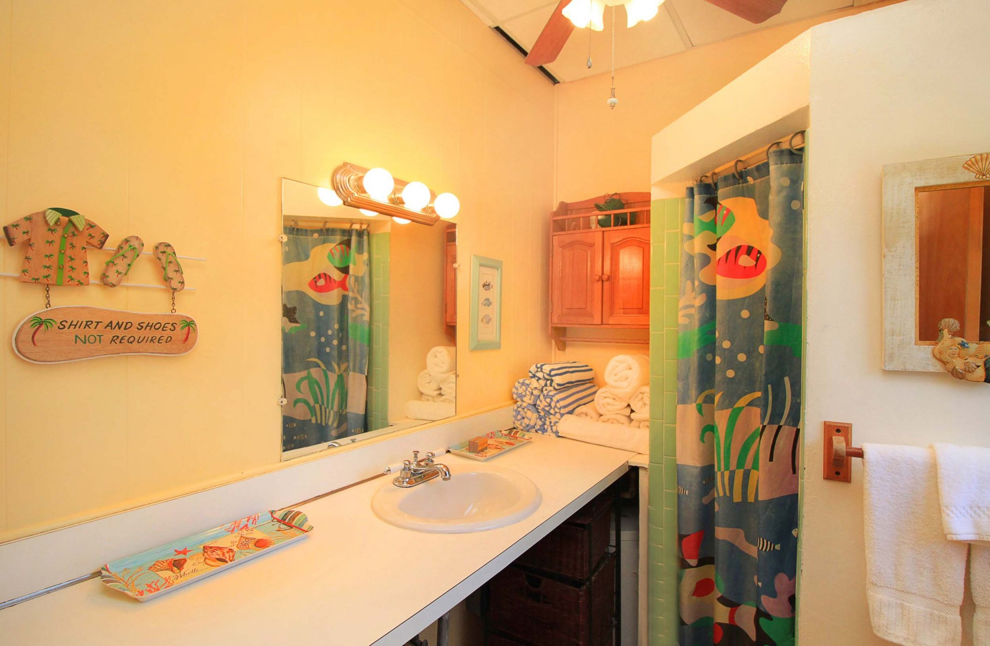 Coral Unit bathroom at Serendip Vacation Condos