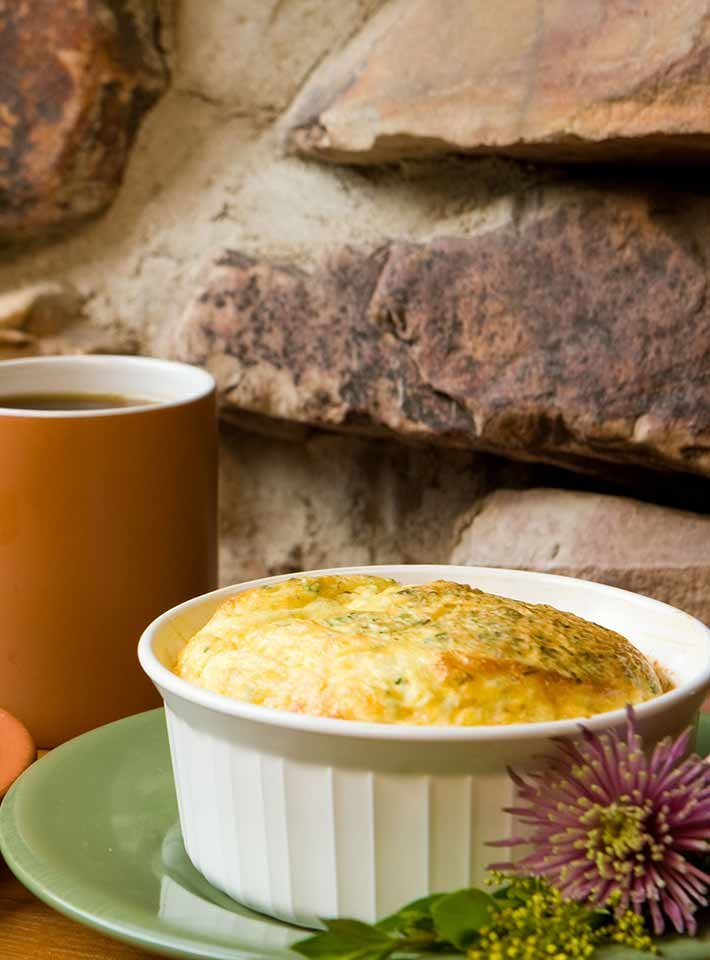 Herb Egg Souffle recipe from Gold Mountain Manor in CA