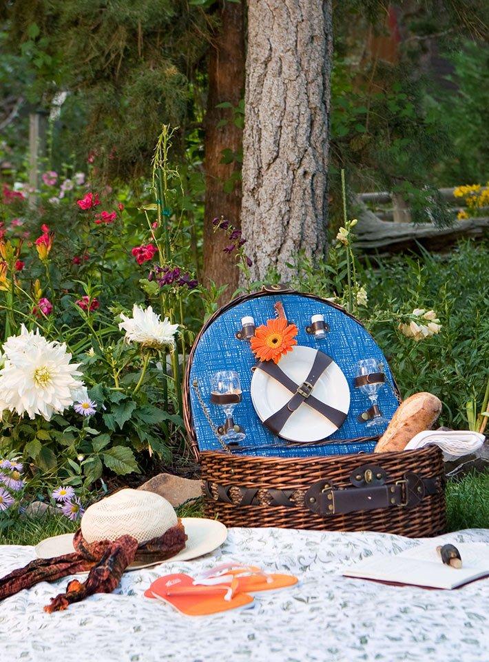 Summer picnic at Gold Mountain Manor in Big Bear City, CA