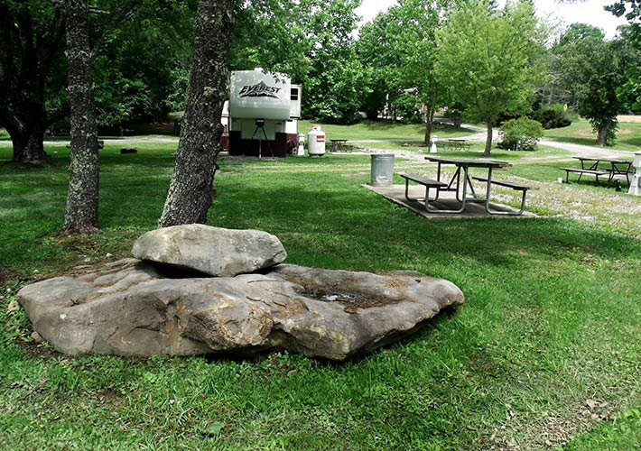 picnic area at Pipestem campground